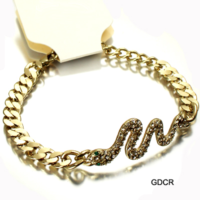 FASHION SNAKE W CHAIN LOBSTER BR(BF0065-ZB0355)