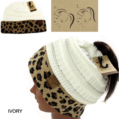 DZ-C.C BEANIETAIL ANIMAL HAT(CB0008-MB45)