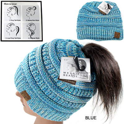 DZ-C.C KINTTED BEANIETAIL HAT (CB0009-MB816)