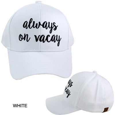 C.C EMBROIDERED CAP/ALWAY ON VACAY(CC0003-BA2017)