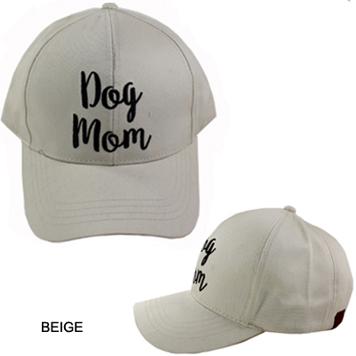 C.C EMBROIDERED CAP/DOG MOM(CC0004-BA2017)