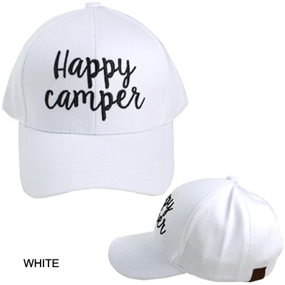 C.C EMBROIDERED CAP/HAPPY CAMPER(CC0005-BA2017)