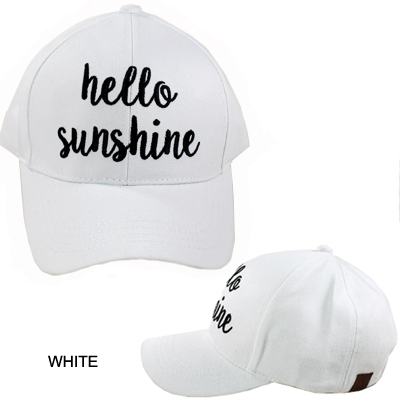 C.C EMBROIDERED CAP/HELLO SUNSHINE(CC0006-BA2017)