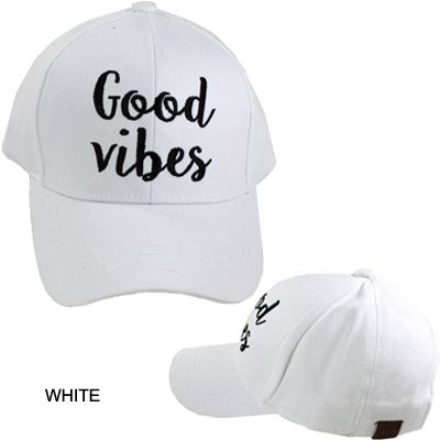C.C EMBROIDERED CAP/GOOD VIBES(CC0007-BA2017)