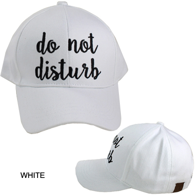 C.C EMBROIDERED CAP/DO NOT DISTURB(CC0008-BA2017)