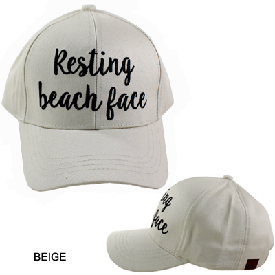 C.C EMBROIDERED CAP/RESTING BEACH FACE(CC0009-BA2017)