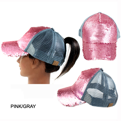 C.C MAGIC SEQUIN PONY CAP(CC011-BT723)