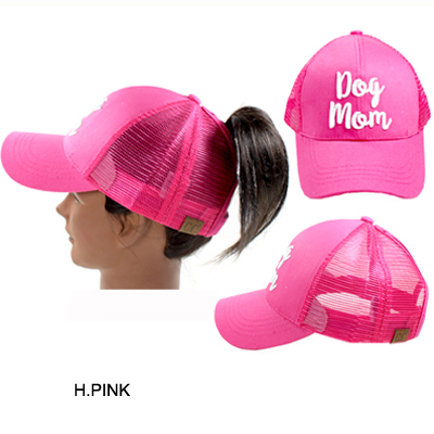C.C PONY W/3D EMBROIDERED CAP/DOG MOM(CC0013-BT10)