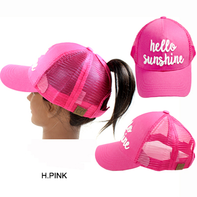 C.C PONY W/3D EMBROIDERED CAP/HELLO SUNSHINE(CC0015-BT10)