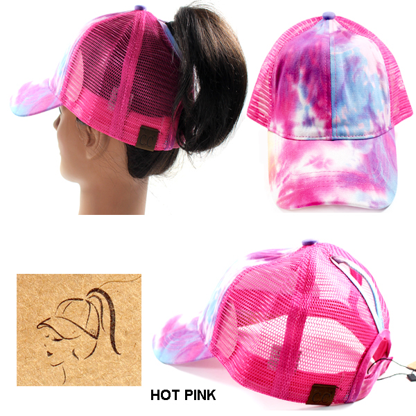 C.C TIE DYED PONY TRUCKER WITH MESH(CC0022-BT2164)
