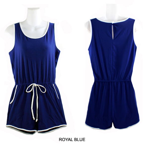 FASHION SLEEVELESS ROMPER(CLA0048-PRNR2310)