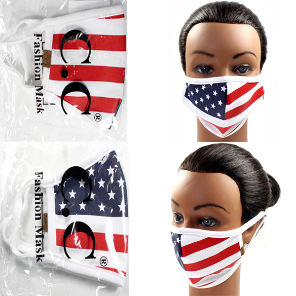 DZ-C.C FASHION USA FLAG PRINT MASK(CM0001-MASK4)