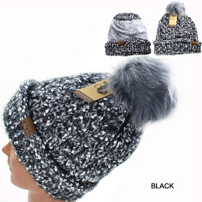 DZ-EYELASH CONFETTI KINTTED POMPOM(CO0003-HAT1825)
