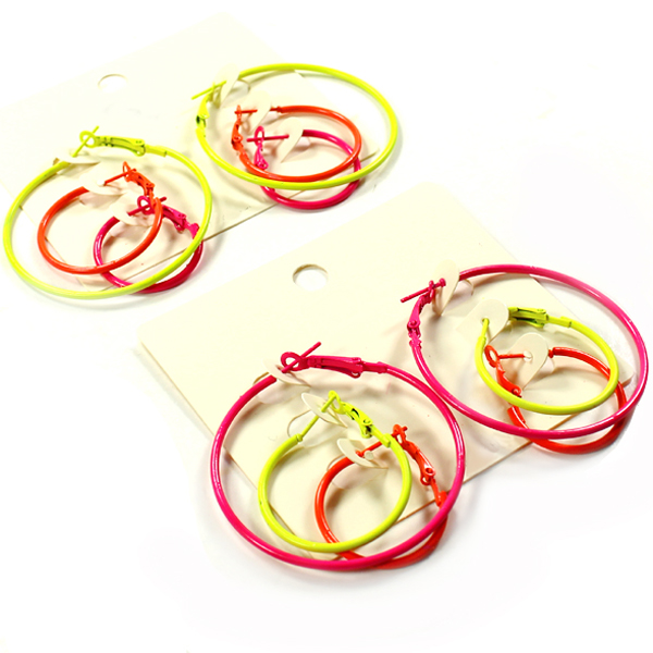 DZ-FASHION NEON COLOR ER(DE0003-ER3049)