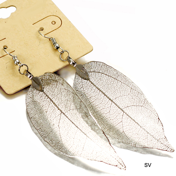 NATURAL LEAF FISH HOOK ER(EF0123-24468)