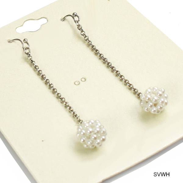 FASHION PEARL BEAD BALL ER(EF0136-24632)