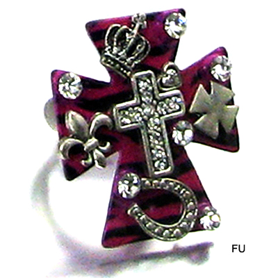 ZEBRA W CROSS STRECH RING(RF0014-LR260)