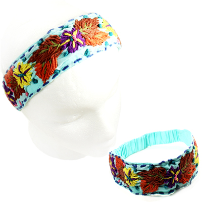 FASHION EMBROIDERY FLOWER H/BAND(HB0021-IH0040)