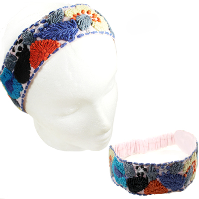 FASHION EMBROIDERY FLOWER H/BAND(HB0022-IH0041)