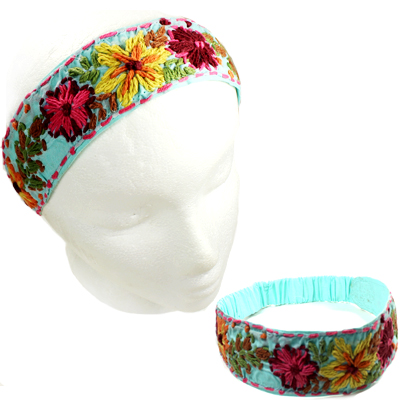 FASHION EMBROIDERY FLOWER H/BAND(HB0025-IH0064)