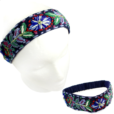 FASHION EMBROIDERY FLOWER H/BAND(HB0026-IH0065)