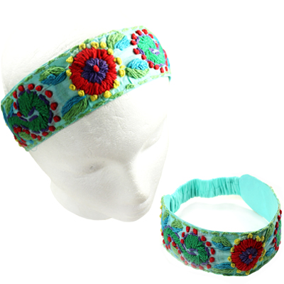 FASHION EMBROIDERY FLOWER H/BAND(HB0027-IH0107)