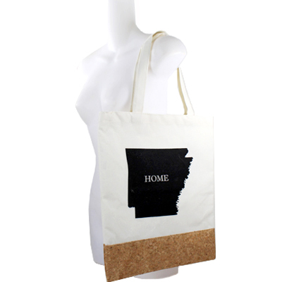"COTTON&CORK ""AR""STATE MAP SHOPPING BAG(HF0061-MB0003AR)"