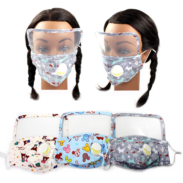 DZ-KIDS 3D SHAPE FILTER POCKET&FACE SHIELD MASK(KID0026-DMK107)