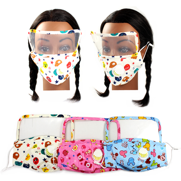 DZ-KIDS 3D SHAPE FILTER POCKET&FACE SHIELD MASK(KID0028-DMK108)
