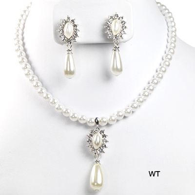"FASHION RHINESTONE PEARL NK SET14""(NP0012-S6802)"