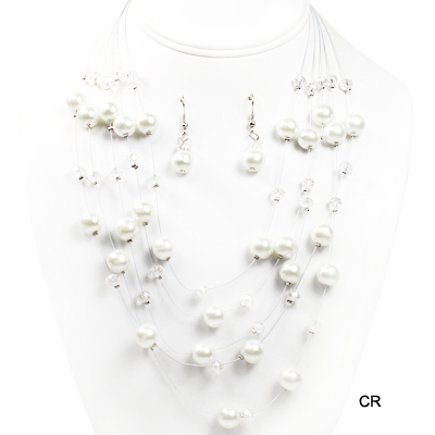 "FASHION PEARL W WIRE NK SET17""(NP0022-CJS0937)"