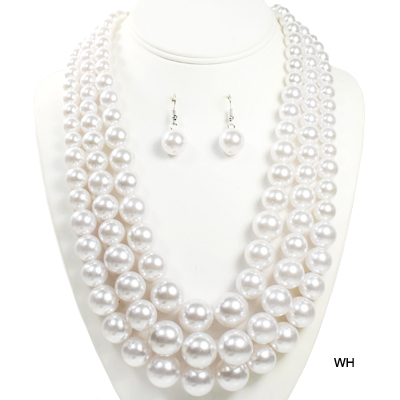 "FASHION 3LINE PEARL NK SET18""(NP0039-NPY036)"
