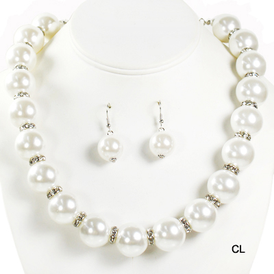 "FASHION STONE W PEARL NK SET17""(NP0042-ONE1009)"