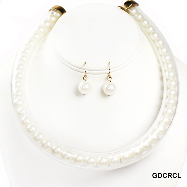 "FASHION PEARL NK SET17""(NP0046-JCNE2098)"