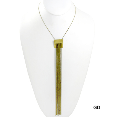 "FASHION CHAIN GEO TASSEL NK14""(NT0003-JHN5673)"