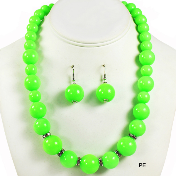 "NEON BEAD COLOR NK SET17.5""(NT0206-13277)"