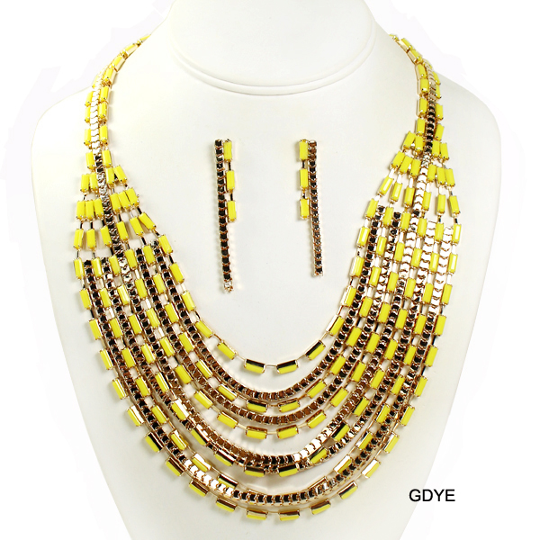"FASHION BEAD STATEMENT NK SET16""(NT0221-MNE1617)"