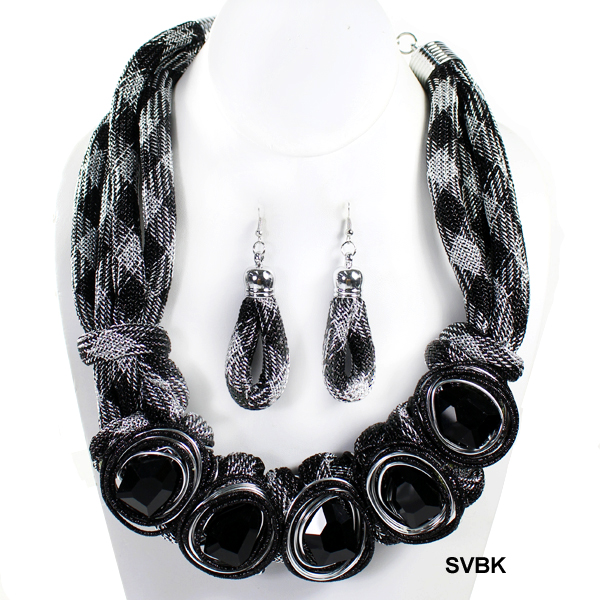 "FASHION HANDMADE NK SET19.5""(NT0392-NEY1074)"