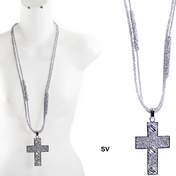 "FASHION HANDMADE CROSS NK SET33""(NT0393-JSN2209)"