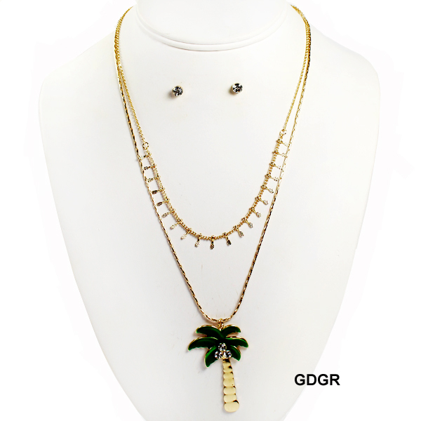 "FASHION PALM TREE NK SET17""(NT0423-JCN2294)"