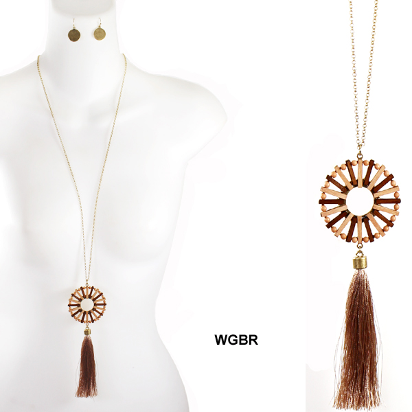 "FASHION WOOD TASSEL NK SET29""(NT0439-ELNE1159)"