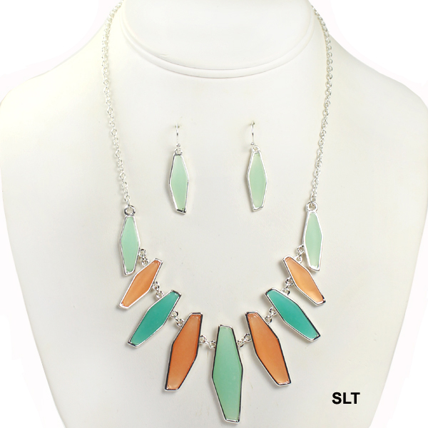 "FASHION SEA GLASS NK SET18""(NT0447-AS6250)"
