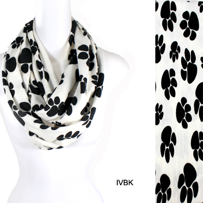 FASHION PAW PRINT INFINITY SCARF(SCA0020-IF0079)