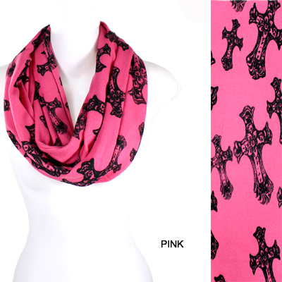 FASHION CROSS THEME INFINITY SCARF(SCA0022-IF0059)