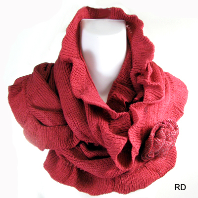 FASHION FLOWER INFINITY SCARF(SCA0023-CMF3028)