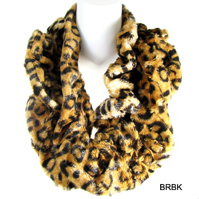 FASHION FLEECE ANIMAL INFINITY SCARF(SCA0025-AACG0414)