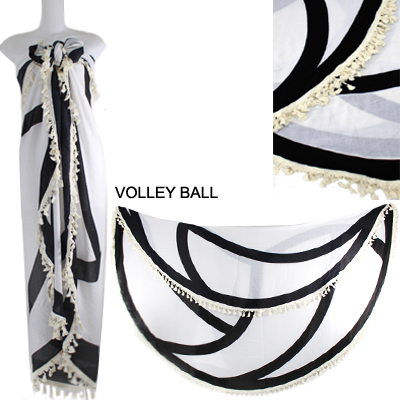 "59""ROUND VOLLEY BALL BEACH COVER UP(SHA0019-LOF509)"