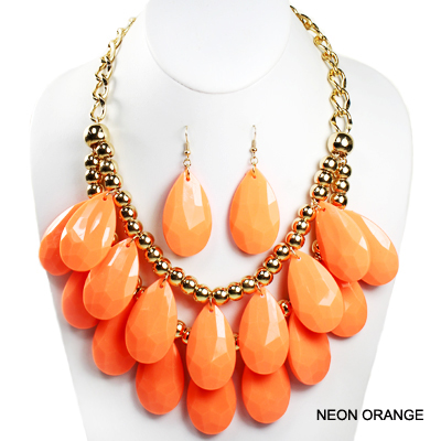 "FASHION NEON COLORFUL NK SET17.5""(SN0007-INE0580)"