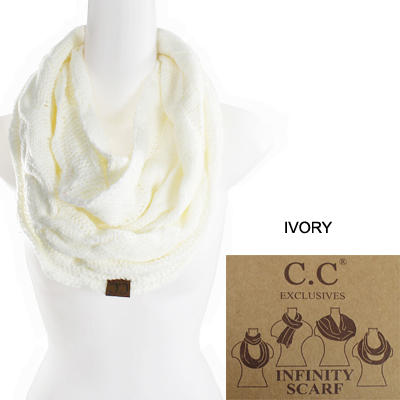 6PC-C.C KNITTED SCARF(CS0001-SF800)