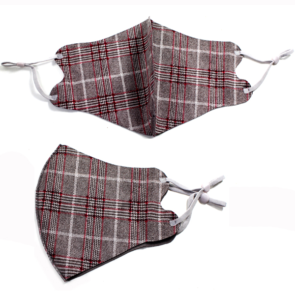 DZ-FASHION PLAID MASK(MK-DZ0259)